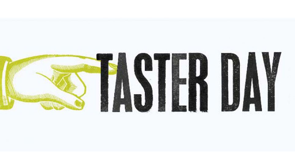 Taster Day on 9th May: book here!