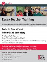 Train to Teach Event in Ongar on 24th April