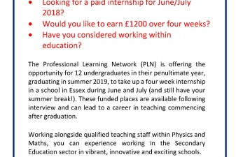 Maths & Physics Internships 2018